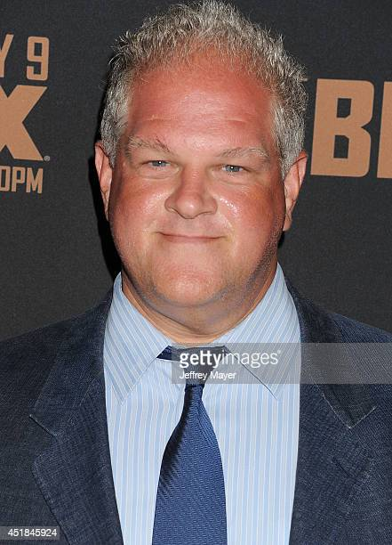 Actor Abraham Benrubi arrives at the FX's 'The Bridge' Season 2 Premiere at Pacific Design Center on July 7 2014 in West Hollywood California