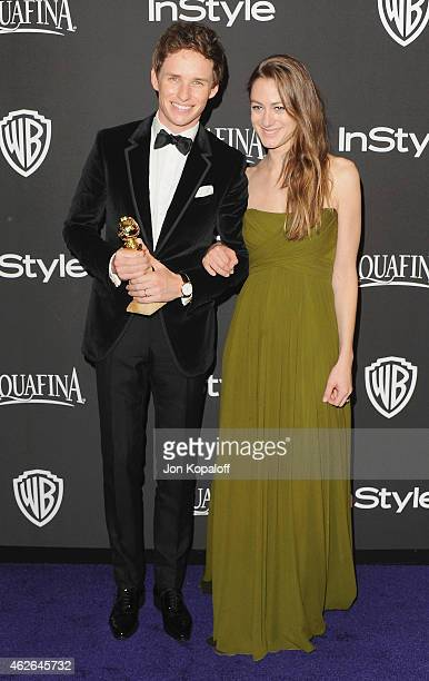 Actor Actor Eddie Redmayne and wife Hannah Bagshawe arrive at the 16th Annual Warner Bros And InStyle PostGolden Globe Party at The Beverly Hilton...