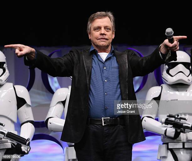 Actor Actor Mark Hamill speaks onstage during Star Wars Celebration 2015 on April 16 2015 in Anaheim California