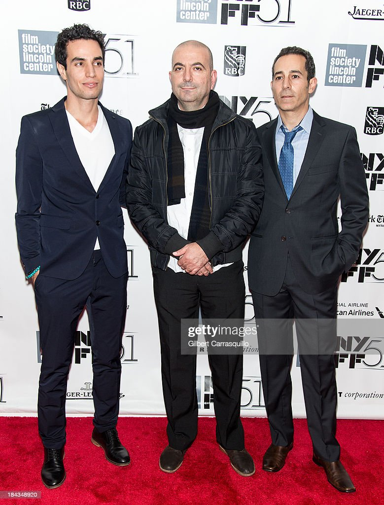 Actor Adam Bakri, director Hany Abu-Assad and producer Waleed Zuaiter of the film 'Omar' attend the Closing Night Gala Presentation Of 'Her' during the 51st New York Film Festival at Alice Tully Hall at Lincoln Center on October 12, 2013 in New York City.