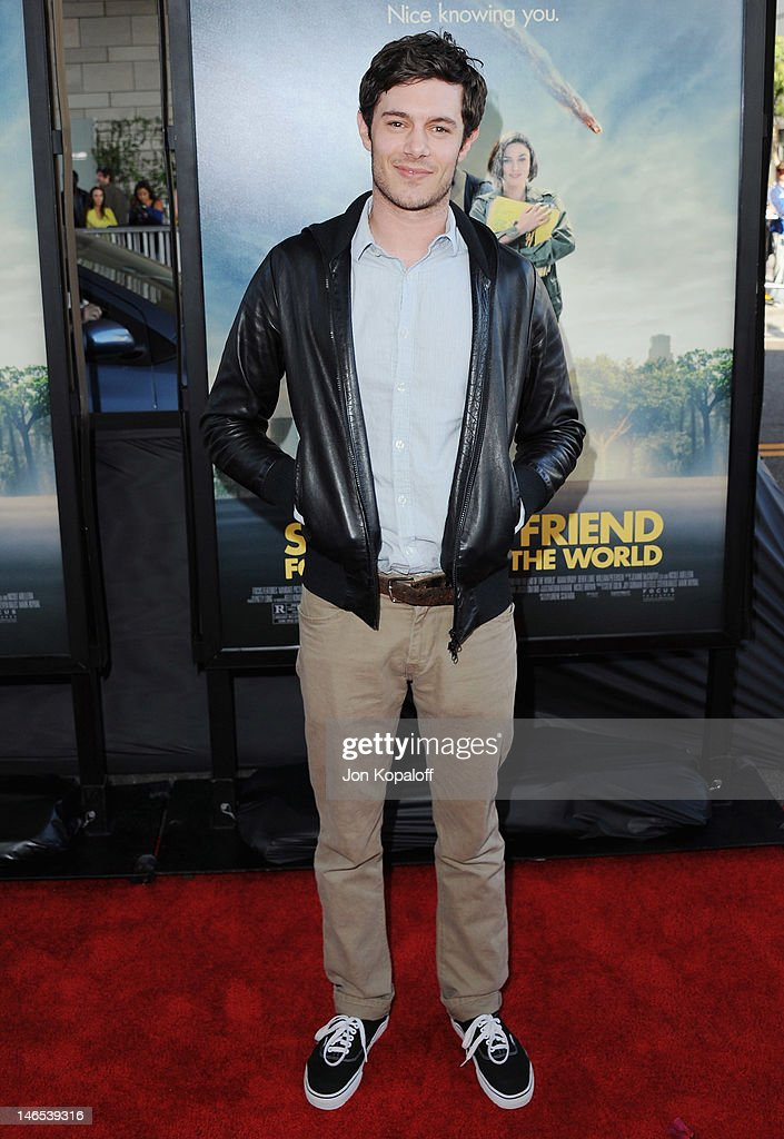 Actor <a gi-track='captionPersonalityLinkClicked' href=/galleries/search?phrase=Adam+Brody&family=editorial&specificpeople=213610 ng-click='$event.stopPropagation()'>Adam Brody</a> arrives at the 2012 Los Angeles Film Festival - 'Seeking A Friend For The End Of The World' at Regal Cinemas L.A. Live on June 18, 2012 in Los Angeles, California.