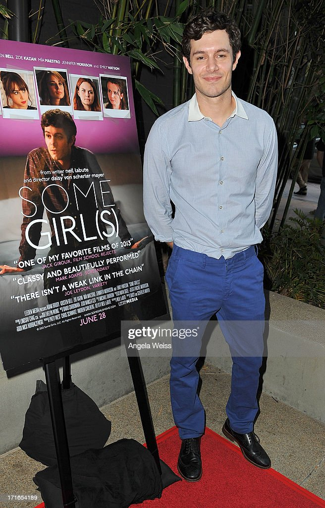Actor <a gi-track='captionPersonalityLinkClicked' href=/galleries/search?phrase=Adam+Brody&family=editorial&specificpeople=213610 ng-click='$event.stopPropagation()'>Adam Brody</a> arrives at the premiere of 'Some Girl(s)' at Laemmle NoHo 7 on June 26, 2013 in North Hollywood, California.