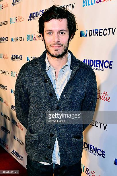 Actor Adam Brody attends DIRECTV Celebrates the Premiere Of 'Billy And Billie' at The Lot on February 25 2015 in West Hollywood California