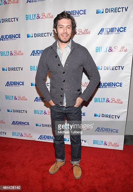 Actor Adam Brody attends the premiere of DirecTV's new comedy series 'Billy Billie' at The Lot on February 25 2015 in West Hollywood California