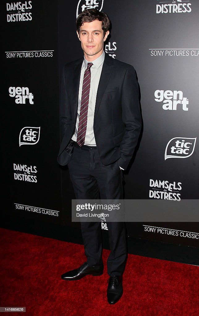 Actor <a gi-track='captionPersonalityLinkClicked' href=/galleries/search?phrase=Adam+Brody&family=editorial&specificpeople=213610 ng-click='$event.stopPropagation()'>Adam Brody</a> attends the premiere of Sony Pictures Classics' 'Damsels in Distress' at the Egyptian Theatre on March 21, 2012 in Hollywood, California.