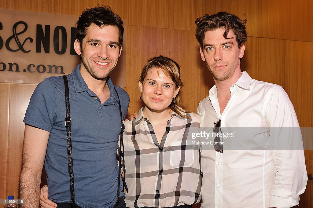 Actor Adam Chanler-Berat, actress Celia Keenan-Bolger and actor Christian Borle attend the 'Peter And The Starcatcher' Q & A and Autograph Signing at Barnes & Noble, 86th & Lexington on June 14, 2012 in New York City.