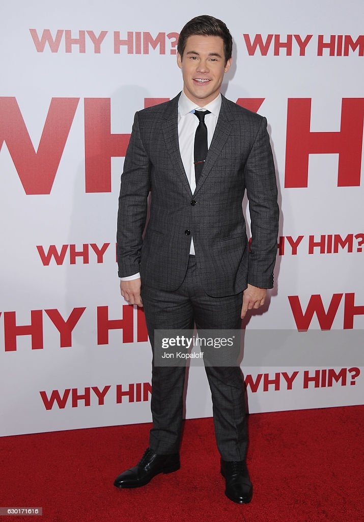 Actor Adam DeVine arrives at the Los Angeles Premiere 'Why Him?' at Regency Bruin Theater on December 17, 2016 in Westwood, California.