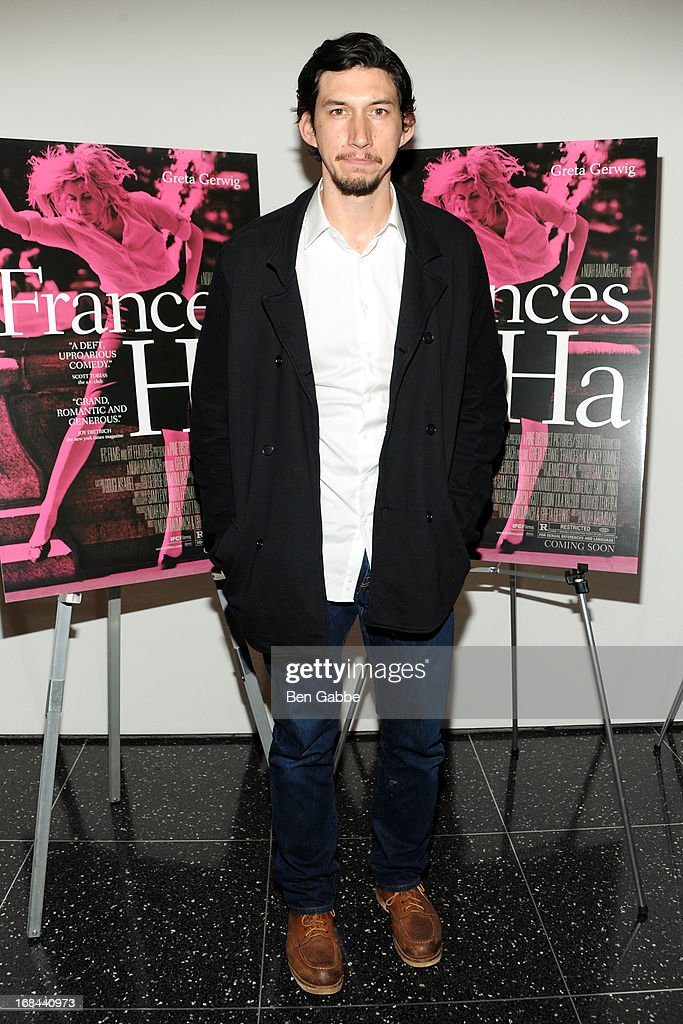 Actor <a gi-track='captionPersonalityLinkClicked' href=/galleries/search?phrase=Adam+Driver&family=editorial&specificpeople=7131793 ng-click='$event.stopPropagation()'>Adam Driver</a> attends 'Frances Ha' New York Premiere at MOMA on May 9, 2013 in New York City.