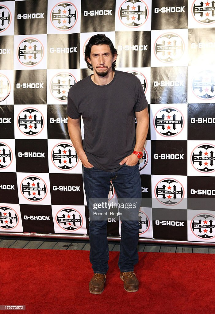 Actor <a gi-track='captionPersonalityLinkClicked' href=/galleries/search?phrase=Adam+Driver&family=editorial&specificpeople=7131793 ng-click='$event.stopPropagation()'>Adam Driver</a> attends G-Shock - Shock The World 2013 at Basketball City - Pier 36 - South Street on August 7, 2013 in New York City.