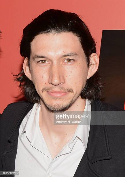 Actor Adam Driver attends 'Red Flag' New York Screening at Sunshine Landmark on February 20 2013 in New York City