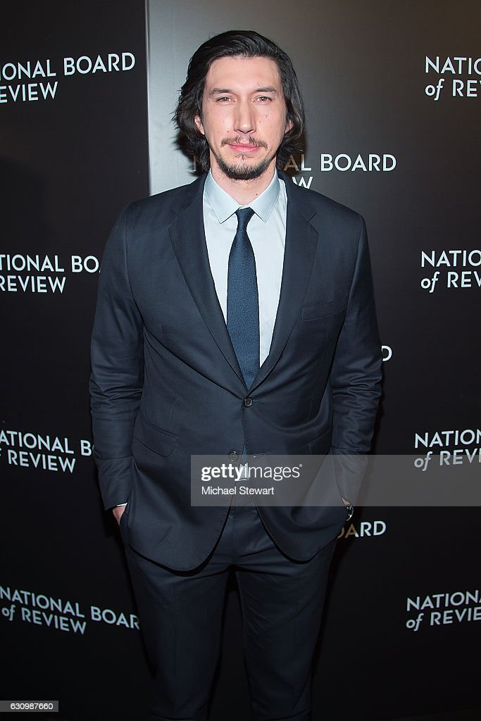 Actor Adam Driver attends the 2016 National Board of Review Gala at Cipriani 42nd Street on January 4, 2017 in New York City.