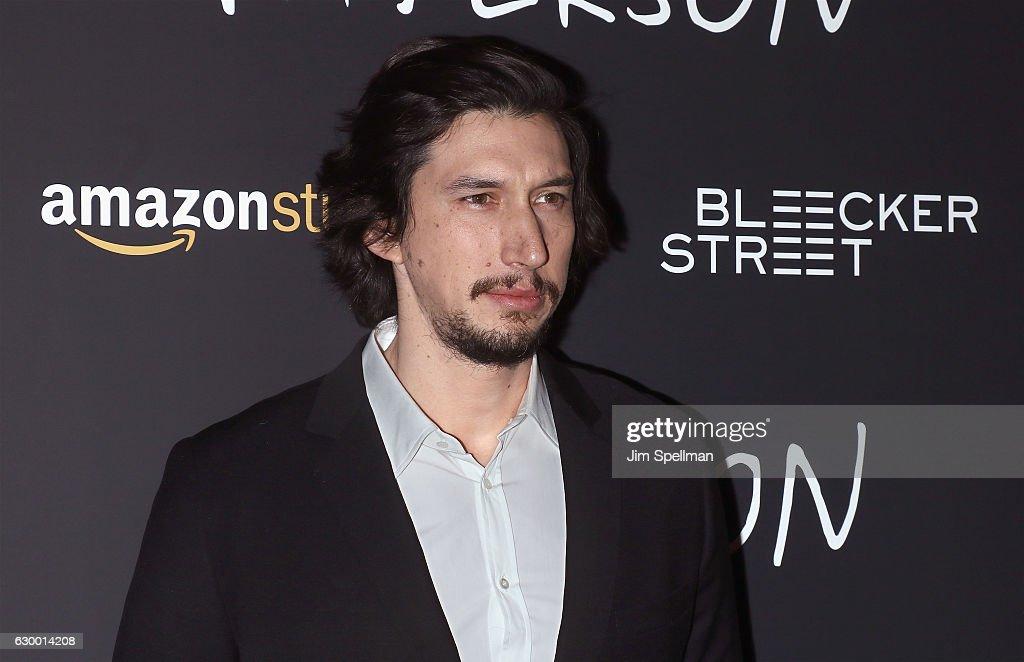 Actor Adam Driver attends the 'Paterson' New York screening at Landmark Sunshine Cinema on December 15, 2016 in New York City.