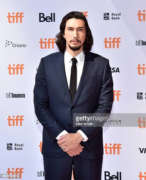 Actor Adam Driver attends the 'Paterson' premiere during the 2016 Toronto International Film Festival at Ryerson Theatre on September 12 2016 in...