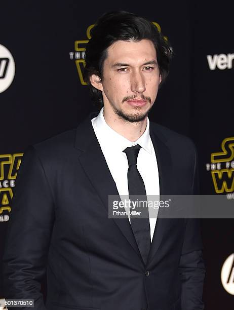 Actor Adam Driver attends the premiere of Walt Disney Pictures and Lucasfilm's 'Star Wars The Force Awakens' at the Dolby Theatre on December 14th...