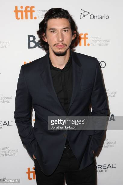 Actor Adam Driver attends the 'Tracks' premiere during the 2013 Toronto International Film Festival at The Elgin on September 10 2013 in Toronto...