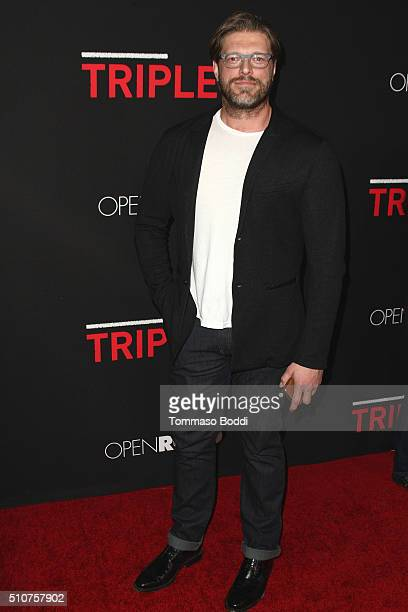 Actor Adam 'Edge' Copeland attends the premiere of Open Road's 'Triple 9' held at Regal Cinemas LA Live on February 16 2016 in Los Angeles California