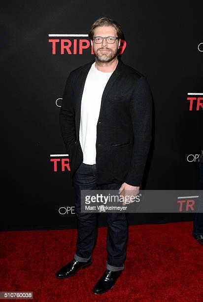Actor Adam 'Edge' Copeland attends the premiere of Open Road's 'Triple 9' at Regal Cinemas LA Live on February 16 2016 in Los Angeles California