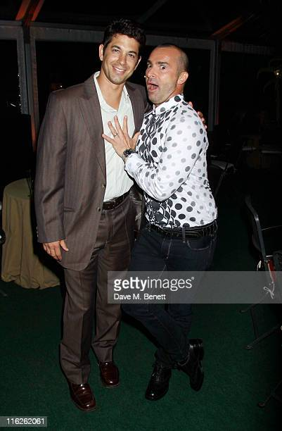 Actor Adam Garcia and Louie Spence attend the Shrek The Musical Press Night after party at Somerset House on June 14 2011 in LondonEngland