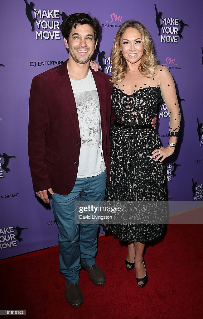 Actor <a gi-track='captionPersonalityLinkClicked' href=/galleries/search?phrase=Adam+Garcia&family=editorial&specificpeople=224764 ng-click='$event.stopPropagation()'>Adam Garcia</a> (L) and TV personality/dancer Kym Johnson attend a screening of 'Make Your Move' at Pacific Theatre at The Grove on March 31, 2014 in Los Angeles, California.