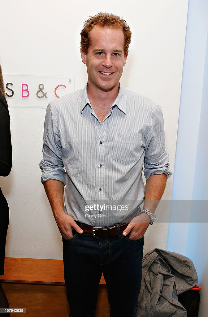 Actor Adam James attends the Opening Night Of The US Premiere Of 'BULL At Brits' Off Broadway After Party at 59E59 Theaters on May 2, 2013 in New York City.
