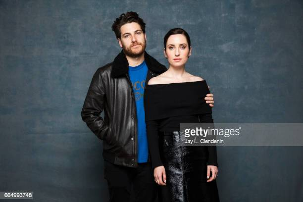 Actor Adam Pally and director/actor Zoe ListerJones from the film Band Aid are photographed at the 2017 Sundance Film Festival for Los Angeles Times...