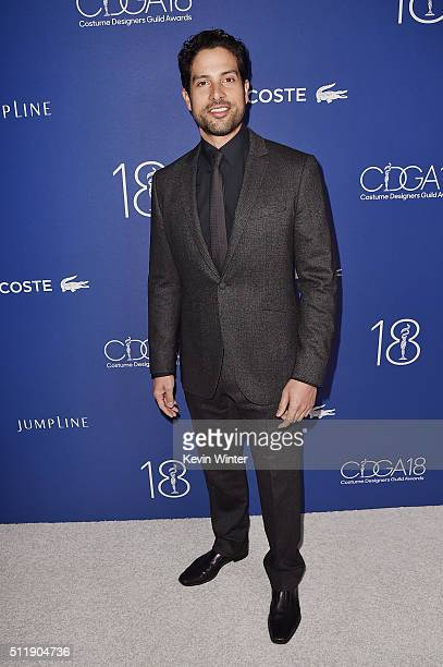 Actor Adam Rodríguez attends the 18th Costume Designers Guild Awards with Presenting Sponsor LACOSTE at The Beverly Hilton Hotel on February 23 2016...
