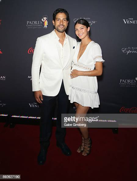 Actor Adam Rodriguez and his wife Grace Gail attend the Padres Contra El Cancer's 16th annual 'El Sueno de Esperanza' celebration at The Venetian Las...