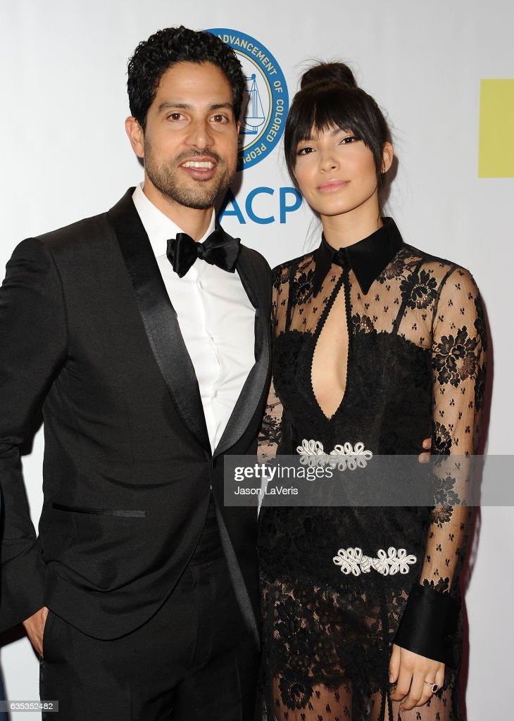 Actor Adam Rodriguez and wife Grace Gail attend the 48th NAACP Image Awards at Pasadena Civic Auditorium on February 11, 2017 in Pasadena, California.