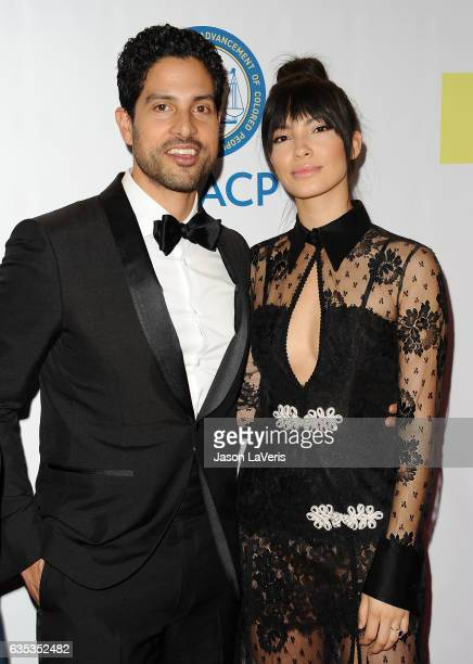 Actor Adam Rodriguez and wife Grace Gail attend the 48th NAACP Image Awards at Pasadena Civic Auditorium on February 11 2017 in Pasadena California