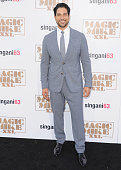 Actor Adam Rodriguez arrives at the Los Angeles Premiere 'Magic Mike XXL' at TCL Chinese Theatre IMAX on June 25 2015 in Hollywood California