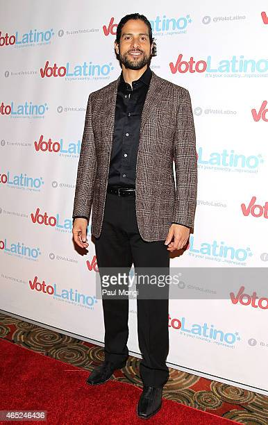 Actor Adam Rodriguez poses for photos at Voto Latino's 10th Anniversary Celebration at Hamilton Live on March 4 2015 in Washington DC