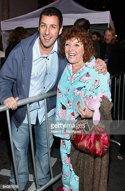 Actor Adam Sandler and his mother Judy arrive at the Los Angeles premiere of Disney's 'Bedtime Stories' held at the El Capitan Theatre on December 18...