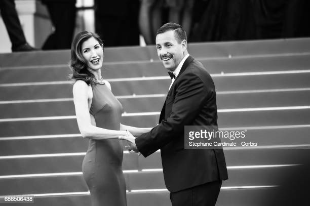 Actor Adam Sandler and his wife Jackie Sandlerepart attends 'The Meyerowitz Stories' premiere during the 70th annual Cannes Film Festival at Palais...