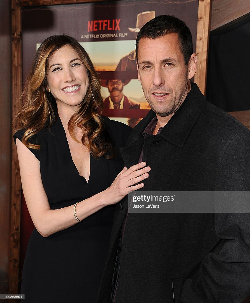 Actor Adam Sandler (R) and wife Jackie Sandler attend the premiere of 'The Ridiculous 6' at AMC Universal City Walk on November 30, 2015 in Universal City, California.