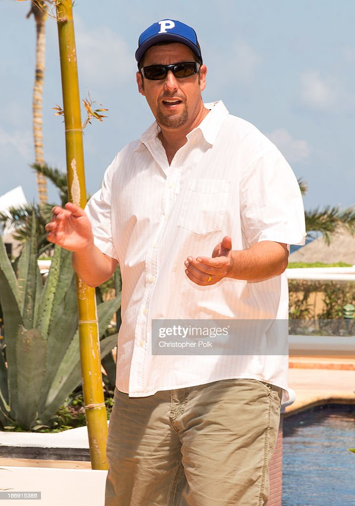 Actor Adam Sandler attends 'Grown Ups 2' Photo Call at The 5th Annual Summer Of Sony at the Ritz Carlton Hotel on April 18, 2013 in Cancun, Mexico.