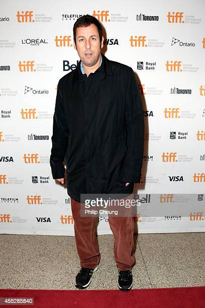 Actor Adam Sandler attends 'The Cobbler' premiere during the 2014 Toronto International Film Festival at The Elgin on September 11 2014 in Toronto...