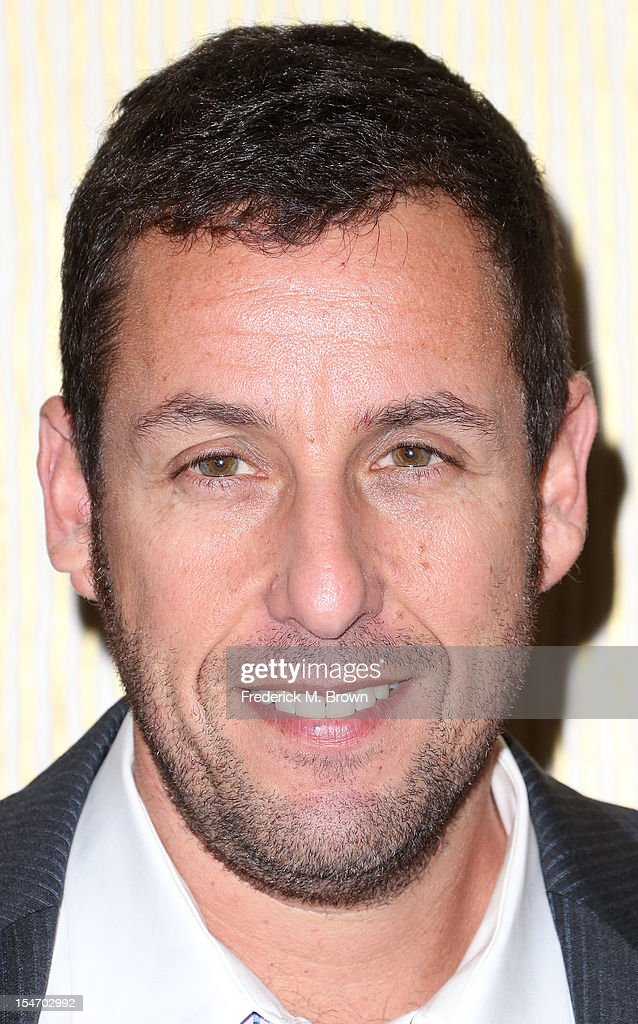 Actor <a gi-track='captionPersonalityLinkClicked' href=/galleries/search?phrase=Adam+Sandler&family=editorial&specificpeople=202205 ng-click='$event.stopPropagation()'>Adam Sandler</a> attends The Fullfillment Fund's STARS 2012 Benefit Gala at The Beverly Hilton Hotel on October 24, 2012 in Beverly Hills, California.
