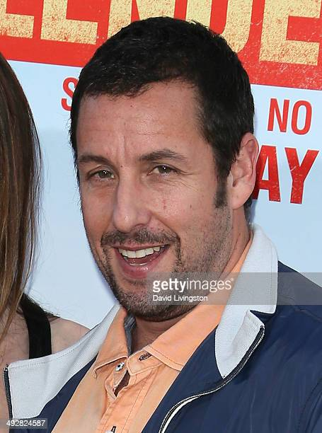 Actor Adam Sandler attends the Los Angeles premiere of 'Blended' at the TCL Chinese Theatre on May 21 2014 in Hollywood California