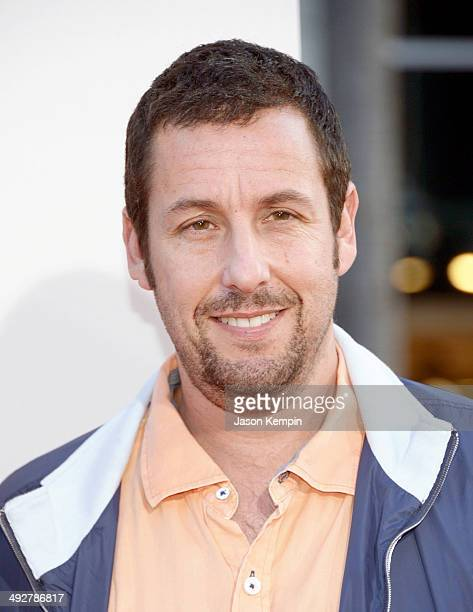 Actor Adam Sandler attends the premiere of 'Blended' at TCL Chinese Theatre on May 21 2014 in Hollywood California