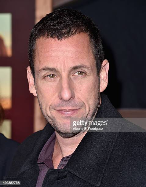 Actor Adam Sandler attends the premiere of Netflix's 'The Ridiculous 6' at AMC Universal City Walk on November 30 2015 in Universal City California