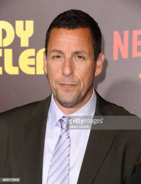 Actor Adam Sandler attends the premiere of 'Sandy Wexler' at ArcLight Cinemas Cinerama Dome on April 6 2017 in Hollywood California