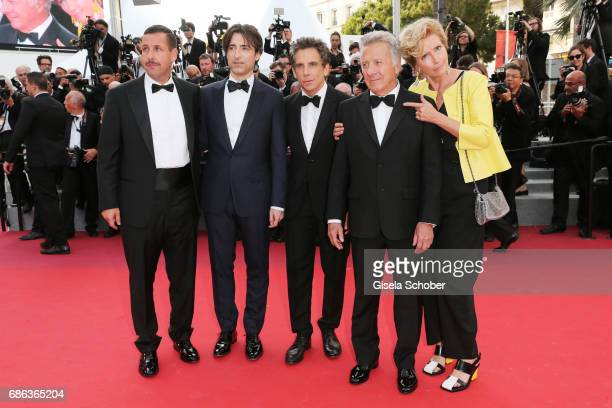 Actor Adam Sandler director Noah Baumbach actor Ben Stiller actor Dustin Hoffman and actress Emma Thompson of 'The Meyerowitz Stories' attend the...