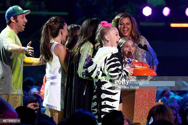 Actor Adam Sandler TV personalities/dancers JoJo Siwa Maddie Ziegler Kalani Hilliker tv personality Abby Lee Miller and dancer/tv personality...