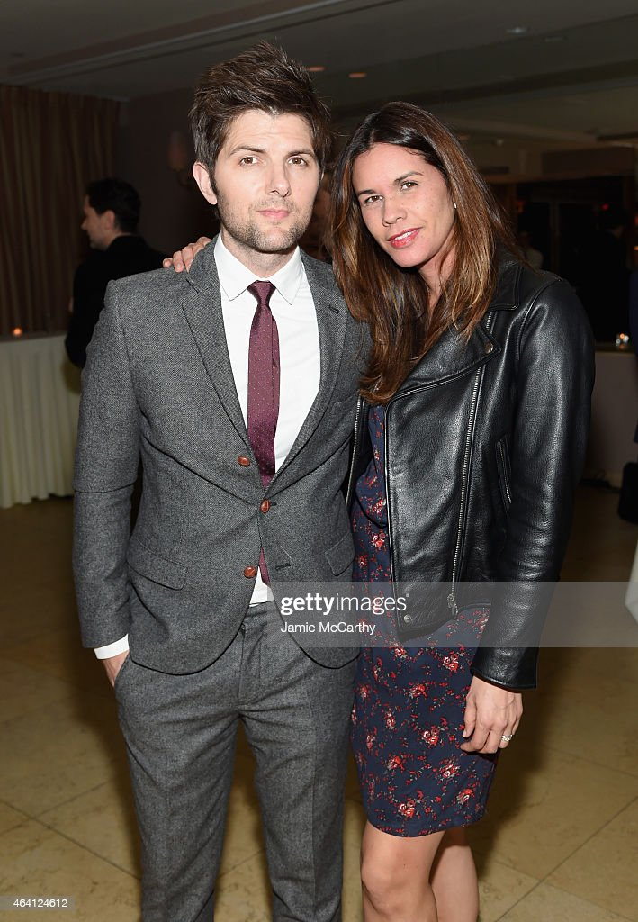 Actor Adam Scott and producer Naomi Scott attend the Grey Goose hosted Michael Sugar Doug Wald and Warren Zavala preoscar party at Sunset Tower on...