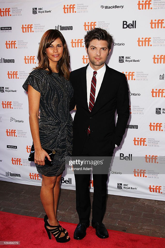 Actor Adam Scott (R) and wife Naomi Sablan arrive at ...