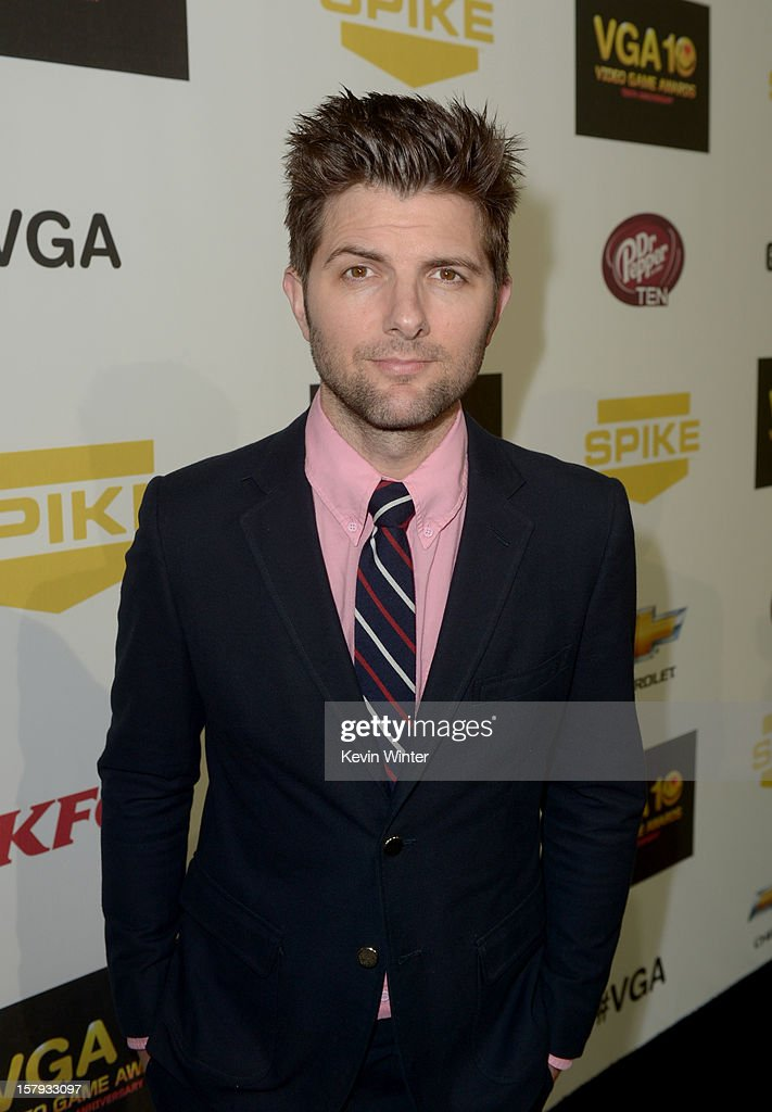 Actor Adam Scott arrives at Spike TV's 10th annual Video Game Awards at Sony Pictures Studios on December 7 2012 in Culver City California