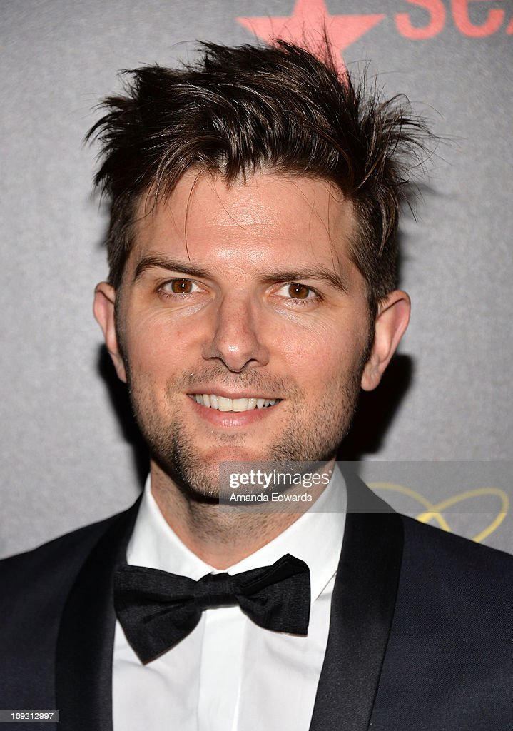 Actor Adam Scott arrives at the 38th Annual Gracie Awards Gala at The Beverly Hilton Hotel on May 21, 2013 in Beverly Hills, California.