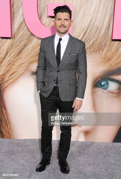 Actor Adam Scott arrives at the premiere of HBO's 'Big Little Lies' at TCL Chinese Theatre on February 7 2017 in Hollywood California