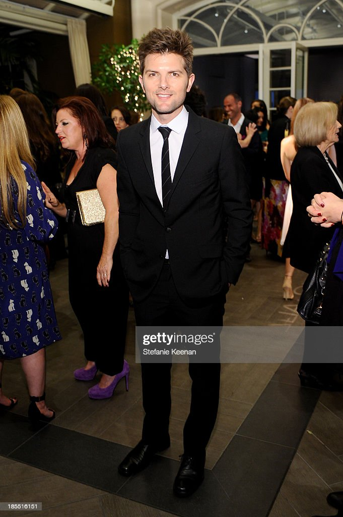Actor Adam Scott attends ELLE's 20th Annual Women In Hollywood Celebration at Four Seasons Hotel Los Angeles at Beverly Hills on October 21, 2013 in Beverly Hills, California.