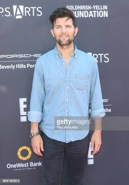 Actor Adam Scott attends PS ARTS' Express Yourself 2017 event at Barker Hangar on October 8 2017 in Santa Monica California